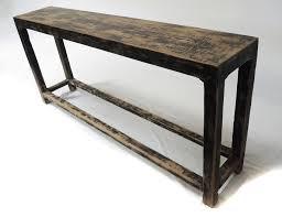slim sofa back console table with shelf custom furniture gallery