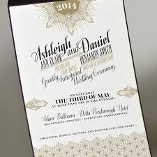 gatsby wedding invitations deco gold wedding invitation great gatsby wedding invitation