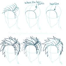 spiky anime hairstyles ah denmark with his hair down google search drawing tips