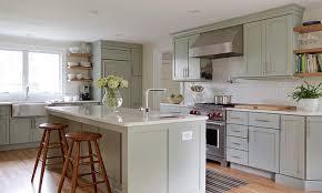 sage green kitchen cabinets transitional kitchen