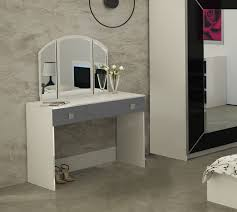 modern dressing table riwiera 1 with mirror sliding drawer in