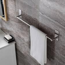 Bathroom Wall Shelves With Towel Bar by Taozun Self Adhesive 21 65 Inch Bathroom Towel Bar Brushed Sus 304