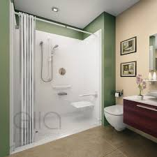 barrier free roll in shower stalls kits