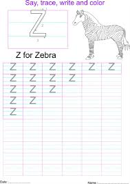 english capital letter u0027z u0027 worksheet