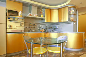 colorful kitchens yellow gold design interior theme with stainless