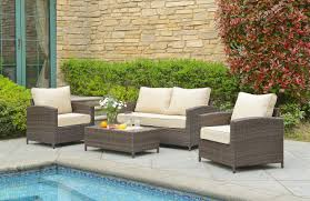 Poolside Seat Cushion Beachcrest Home Marybeth 4 Piece Deep Seating Group With Cushion