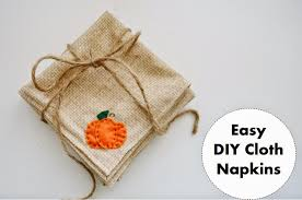 diy cloth felt napkins for fall