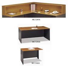 L Shaped Reception Desk Bush Industries Series C L Shaped Reception Desk With Hutch