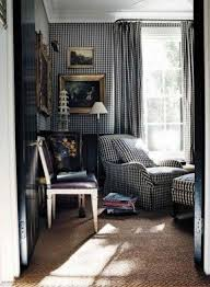 Blue Buffalo Check Curtains Black And White Plaid Curtains Foter