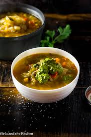 provencal vegetable soup with pistou and the kitchen