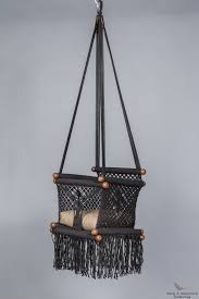 Knotted Hammock Chair Furniture Exquisite Needle And Knot Macrame Baby Swing Chair