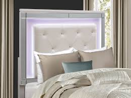 Bedroom Set With Matching Armoire Homelegance Alonza Bedroom Set With Led Lighting Brilliant White