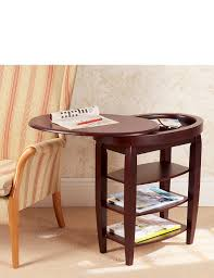 side table with laptop storage furniture swivel side table with top and storage compartment three