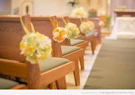 decoration eglise pour mariage déco simple des bancs de l église décoration mariage idées
