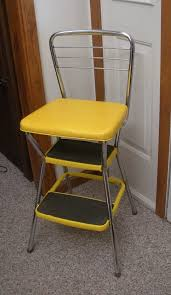 vintage cosco yellow kitchen step stool chair u2014 steveb interior