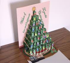 pop up tree card merry