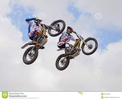 motocross freestyle jumping with a motorcycle trial editorial image image 30314290
