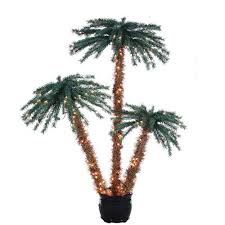 lighted 3 4 5 foot palm in black pot 350 clear lights buy now