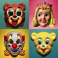 vintage masks retro masks retro