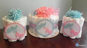 gender reveal diaper cake party pack baby shower gender