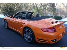 orange porsche convertible 2009 orange paint to sample porsche 911 turbo cabriolet 6561828