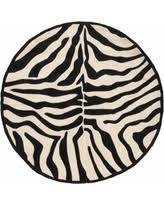 Black Round Rug Round Animal Print Rugs Bhg Com Shop