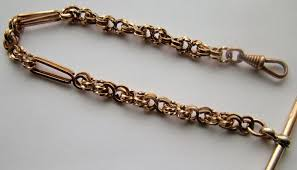 vintage watch chain necklace images Vintage rolled gold pocket watch chain 315021 sellingantiques jpg