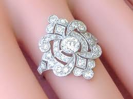 antique art deco 1 50ctw diamond platinum cocktail engagement ring