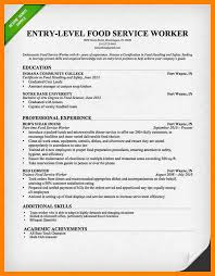 resume templates food service resume template for food server