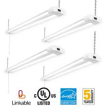 linkable led shop lights amico linkable led utility shop light 4ft integrated double fixture
