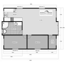 Floor Plan Granny Flat Folding House Portable Cabins Granny Flats Kit Homes Australia