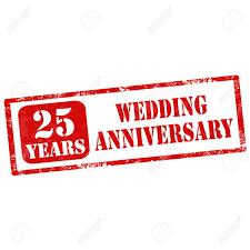 25 year wedding anniversary grunge rubber st with text 25 years wedding anniversary vector