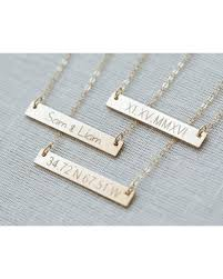 personalized bar necklace shopping season is upon us get this deal on gold bar