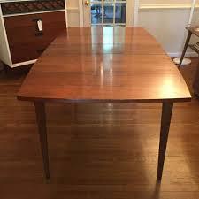 mid century walnut dining table mid century modern walnut surfboard dining table epoch