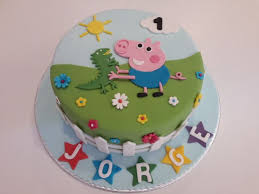 Peppa Pig Birthday Decorations The 25 Best George Pig Cake Ideas On Pinterest Peppa Pig