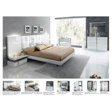 Harmony Platform Bedroom Set Granada Bedroom Set Bed 2 Nightstands Chest Dresser And Mirror