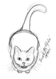 daily sketch reprise about to pounce the creative cat