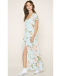 light blue floral maxi dress amazing deal on forever21 women s light blue pink floral