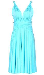 tiffany blue short infinity dress