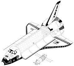 drawn rocket shuttle pencil and in color drawn rocket shuttle