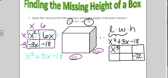 finding missing height of a box youtube