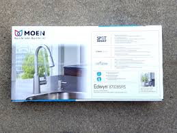 moen stainless steel kitchen faucet moen edwyn 87028srs spot resist pull spray stainless steel