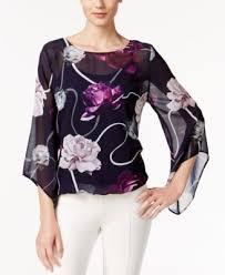 alfani blouses alfani printed sleeve blouse only at macy s tops