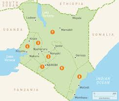 Interactive Map Of Africa by Map Of Kenya Kenya Regions Rough Guides