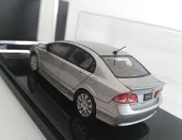 silver 1 43 diecast 2008 honda civic 2 0gl s package model
