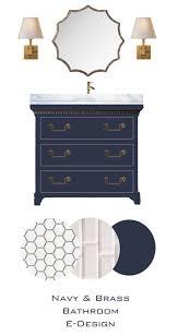 Navy Blue Bathroom Ideas Colors Knox Bathroom Blue Vanity White Subway Tile For Shower Penny