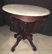 antique mahogany pedestal table vintage antique eastlake victorian mahogany marble top oval pedestal