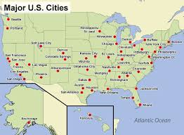 map of usa with major cities us map showing all cities map usa major cities 13 us with