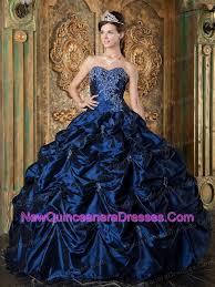 navy blue sweetheart picks up taffeta ball gown 209 16