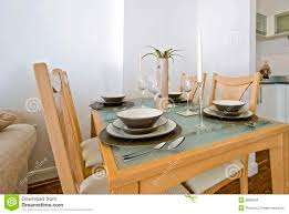 Dining Table Set Up Images Dining Table With Setup Stock Photo Image Of Four Floor 8896544